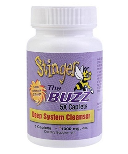 5 Pack - Stinger the Buzz Detox Cleanser 5x Caplets with Free Im Baked Bro and Doob Tubes Sticker