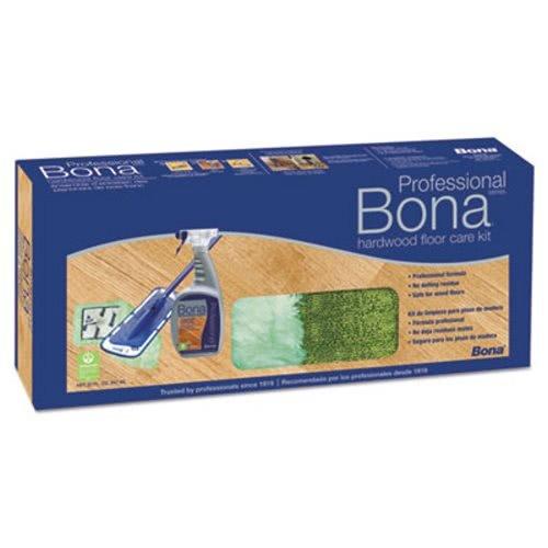 Bona Hardwood Floor Care Kit, 15'' Head, 52'' Handle, Blue   Four-piece pole is easy to assemble