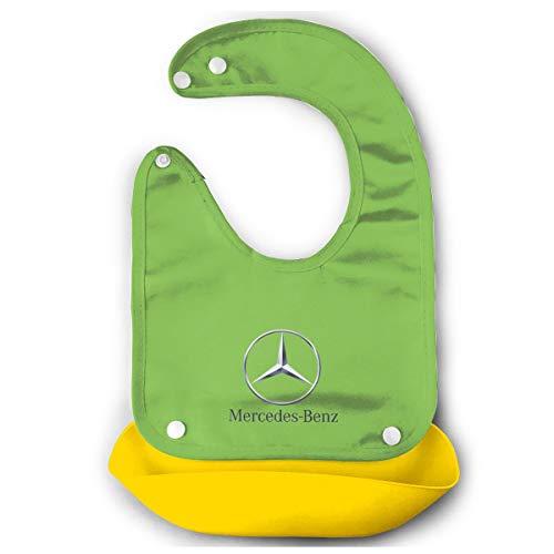 LightCa General Motors Mercedes Benz Logo Bib Mouth Towel for Babies Yellow 48