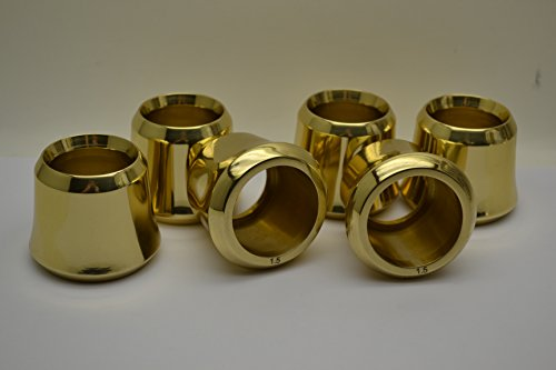 Set of 6 Solid Brass Candle Followers 1 1/2'' size, Brand New Burners (set of 6) by Classical Church Goods (Image #1)