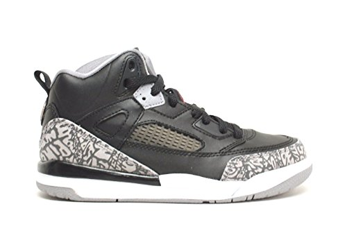 (Jordan Spizike Black/Varsity Red-Cement Grey (Little Kid) (1.5 M US Little Kid))