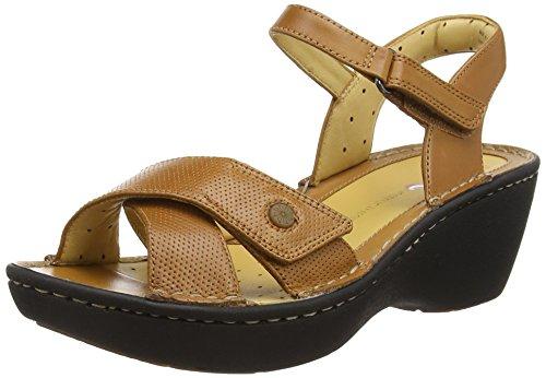 ClarksUn Dima - Sandalias con cuña para mujer Marrón (Tan Leather)