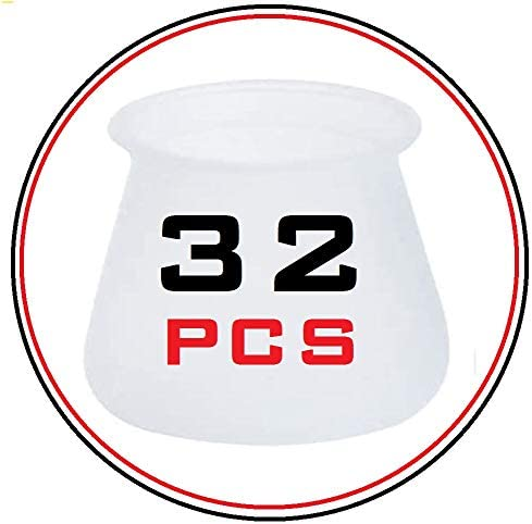 40 piezas Reduce Noise,tama/ño 17-21mm Protector Patas Sillas,almohadilla de silicona para sillas,pie de silla,almohadilla de silicona para muebles,Prevent Floor Scratches