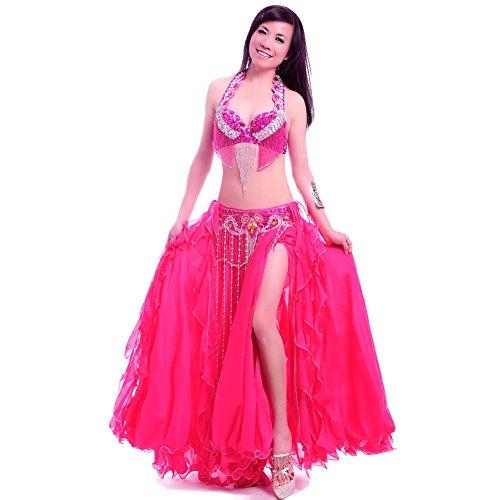 ROYAL SMEELA Women's Belly Dance Clothing Rhinestone Bra/Belt/Skirt 3pcs by Royal Smeela