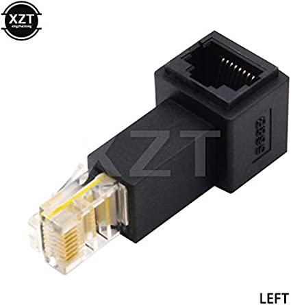 ShineBear newese Up Down Left Right Angled 90 Degree 8P8C FTP STP UTP Cat 5e RJ45 LAN Ethernet Network Extension Male to Female Cable Length dwon