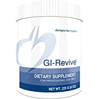 Designs for Health GI Revive Powder - Forro de tripa y soporte de regularidad con raíz de olmo de mermelada resbaladiza + (225 g, 28 porciones)