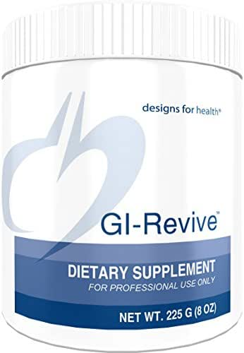 Designs for Health GI Revive Powder - Gut Lining + Regularity Support with Slippery Elm + Marshmallow Root (28 Servings / 225g)