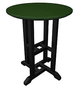 """29""""reciclado energía al aire libre Patio mesa–verde con marco negro"""