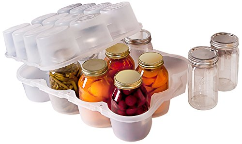 (JarBox Canning Jar, Quart, Semi-Clear)