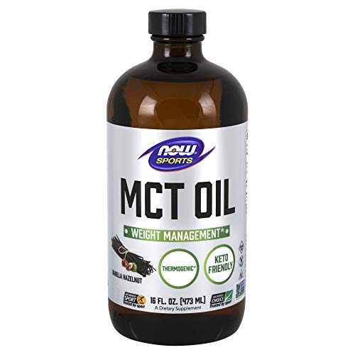 NOW Sports Nutrition, MCT (Medium-Chain triglycerides) Oil, Vanilla Hazelnut, 16-Ounce