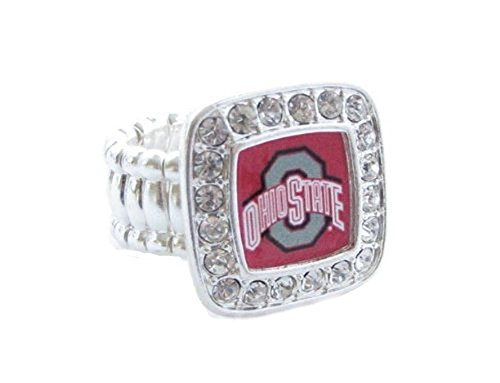 Sports Accessory Store Ohio State Buckeyes OSU Clear Crystals Fashion Stretch Ring by Sports Accessory Store