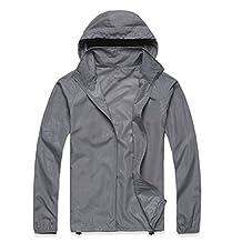 Men's Long Sleeve Lightweight Jacket UPF 50+ Cycling Hiking Windbreaker