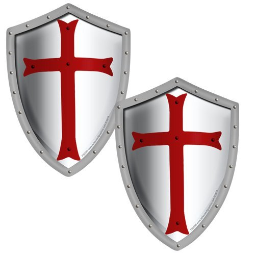 (AZ House of Graphics Knights Templar Shield Stickers 2 Pack)