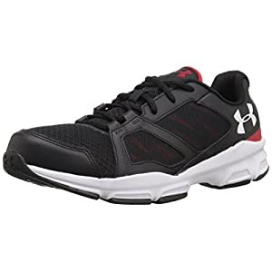 Under Armour Zone 2 Sneaker - black w red