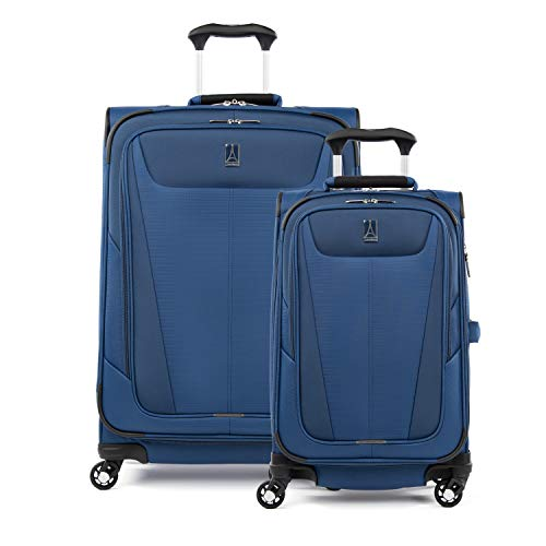 Travelpro Maxlite 5-Softside Expandable Spinner Wheel Luggage, Sapphire Blue, 2-Piece Set (21/25)