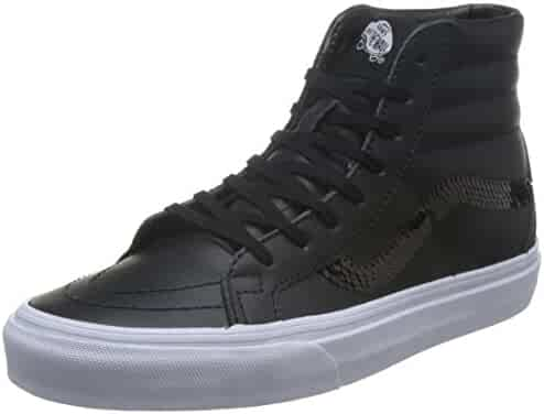 8d79c7e7f60fcd Vans Sk8-Hi Reissue (Shiny Sequins) Fashion Sneakers Black True White Size