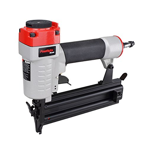 Air Finishing Nailer - PowRyte 18 Gauge Air Brad Nailer with Tool-Free Jam Release Mechanism - 5/8-inch to 2-inch
