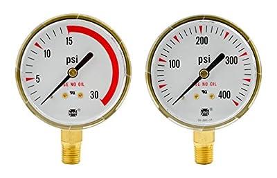 """2-1/2"""" x 30 PSI & 400 PSI Welding Regulator Repair Replacement Gauge Acetylene"""