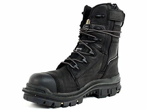 Caterpillar Men's Mortise 8'' Waterproof Work Boot Composite Toe Black 11.5 D(M) US by Caterpillar (Image #6)