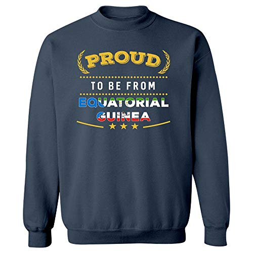 MESS Proud to Be from Equatorial Guinea Pride - Sweatshirt Navy ()