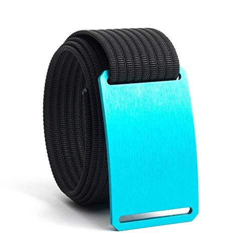 36 Inch Aurora Blue Belt Buckle w/Black Strap