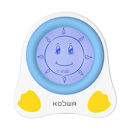 KOBWA Kids Children Sleep Trainer Alarm Clock with Night Light For Sale