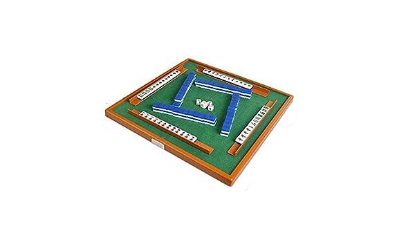 YBWEN Mahjong Mini portátil Plegable de Mahjong con Mahjong Juego Chino Juego de Mesa Juegos de baldosas-Basado (Color, Size : 16x11x9mm): Amazon.es: Hogar