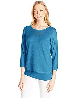 Calvin Klein Women's Dolman Sweater W/ Underpinning