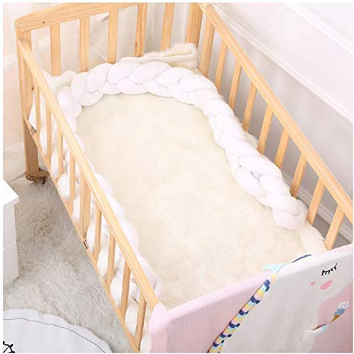 Ins Woven Long Knot Cushion Children Cotton Pillow Creative Nordic Simple Children's Room Bed Decoration (White, 3m) by Sportskindom (Image #2)