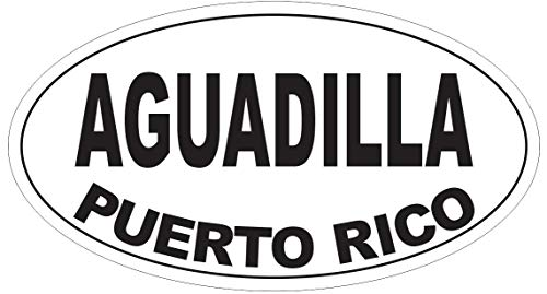 (Aguadilla Puerto Rico Oval Vinyl Bumper Sticker Decal D4092 5