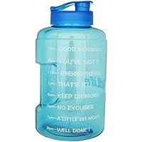1 Gallon(128OZ) Water Bottle Inspirational Fitness...