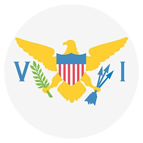 Flag for Virgin Islands, U.S. Emoji Metal (White Flag Virgin Islands)