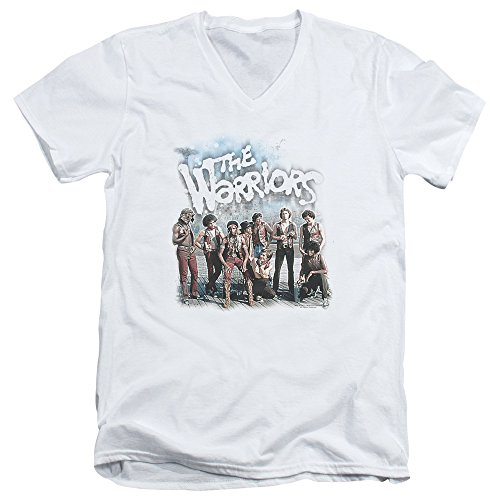 The Warriors Nyc Gang Thriller Action Movie Amusement Adult V-Neck T-Shirt (Warriors Baseball Gang)