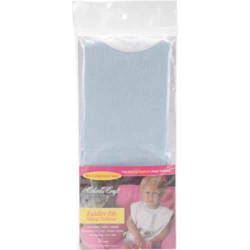 Charles Craft VB6680-5708 Pullover Velour Toddler Bib, Powder Blue, 19-1/2 by 12-Inch