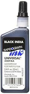 Universal Rapidograph Waterproof Ink 3080F, Black, 3/4 oz
