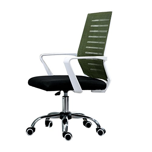Bar chair Computer Chair Home Office Chair Lifting Swivel Chair Conference Staff Modern Simple Chair Lazy Game Back Chair (Mesh, Steel Foot) (Color : Green)