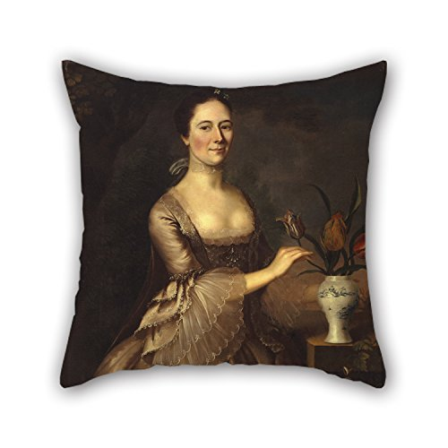 [The Oil Painting Joseph Blackburn - Portrait Of A Woman Pillow Shams Of ,18 X 18 Inches / 45 By 45 Cm Decoration,gift For Dining Room,boy Friend,study Room,bar Seat,lover (twice] (In N Out Burger Halloween Costume)