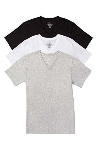 4addd5ee1094f9 Calvin Klein Men s 3-Pc Grey White Black Cotton V-Neck Basic