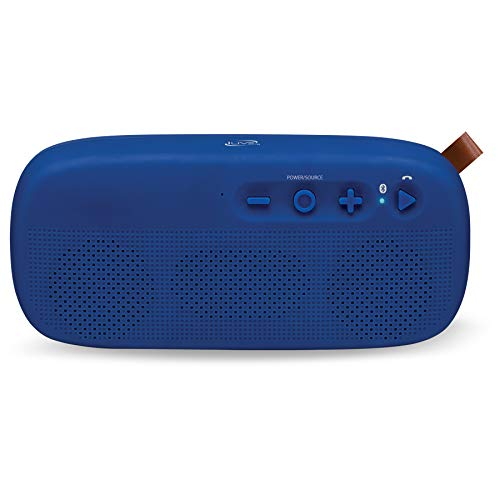 iLive Water Resistant Wireless Speaker, 8.27 x 1.8 x 3.82 Inches, Built-in Rechargeable Battery, Blue (ISBW249BU)