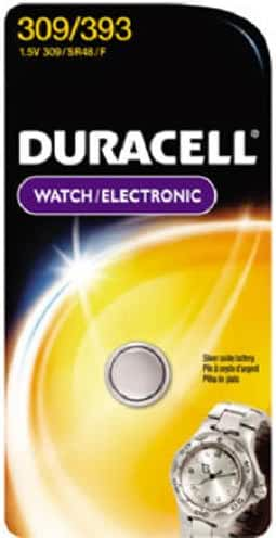 Duracell 309/393 1.5V Watch and Calculator Battery
