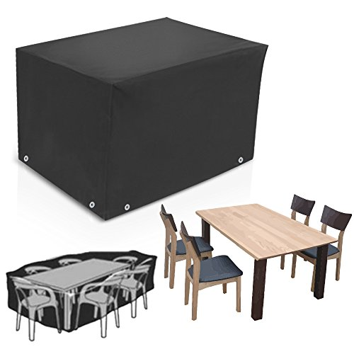 ALLOMN Cube Outdoor Patio Furniture Protective Cover Dustproof Waterproof Rain Protection for Furniture Table Chair (84