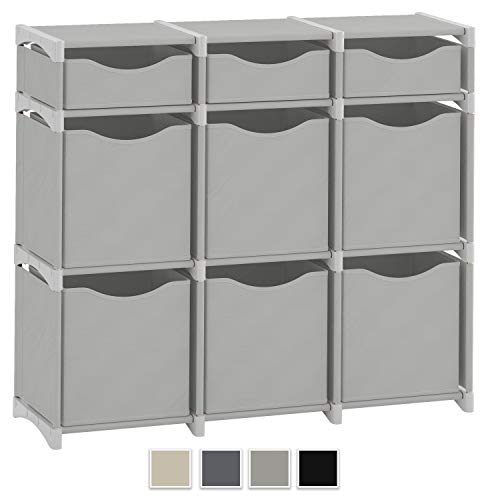 9 Cube Organizer | Set of Storage Cubes Included | DIY Cubby Organizer Bins | Cube Shelves ladder Storage Unit...