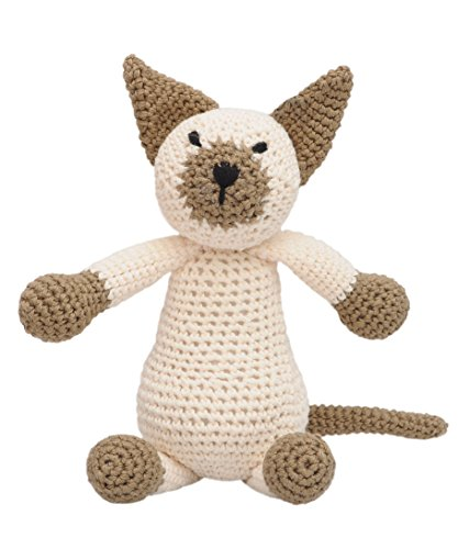 DaoOfThao Wild Cat Animal Handmade Amigurumi Stuffed Toy Knit Crochet Doll VAC