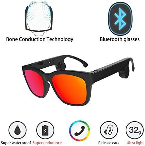 アップグレードバージョン骨伝導インテリジェントアウェイクメガネ偏光サングラス、ステレオミュージックワイヤレスBluetoothメガネ
