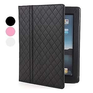 conseguir Carcasa de Cuero PU de Malla con Soporte para el iPad 2 - Colores Surtidos , Negro