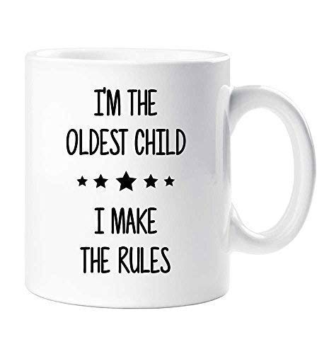 I'm The Oldest I Make The Rules Mug Sibling Rivalry Birthday Gift Christmas Novelty Humour Funny Brothers Sisters 60 Second Makeover Limited