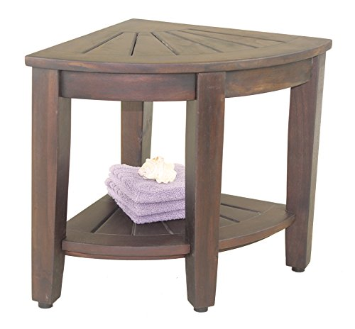 The Original 15 5 Quot Kai Mocha Corner Teak Shower Bench With