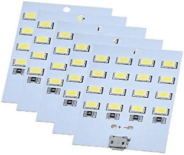 QinMei Zhou 5PCS - 5V 430ミリアンペア〜470ミリアンペアホワイトミルコのUsb 5730 LED照明パネルのUSBモバイルライト緊急光夜の光