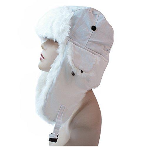 Pop Fashionwear Women's Trapper Winter Ear Flap Hat P136 (White)