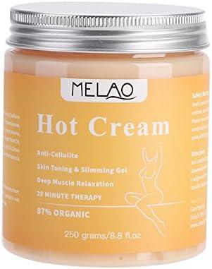 Crema adelgazante anticelulitis en caliente con celulitis gel de masaje crema de quemadura de grasa Masaje firme su piel Reducir la apariencia de la celulitis 250g